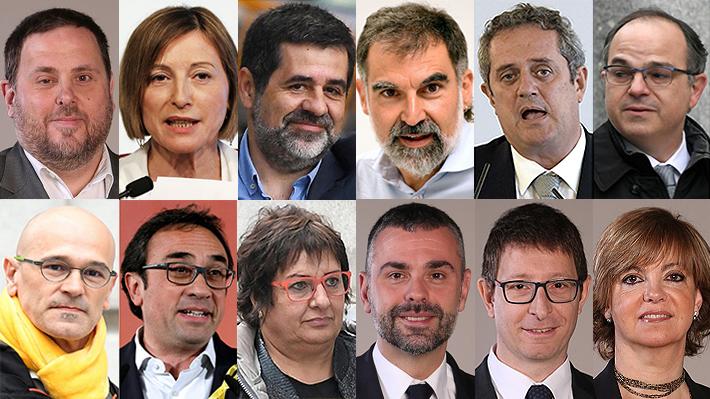 Separatistas catalanes al banquillo: Quién es quién entre los procesados en el histórico juicio en España
