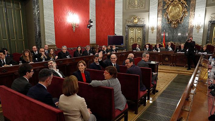 Supremo español reanuda el juicio a independentistas con el turno de acusaciones