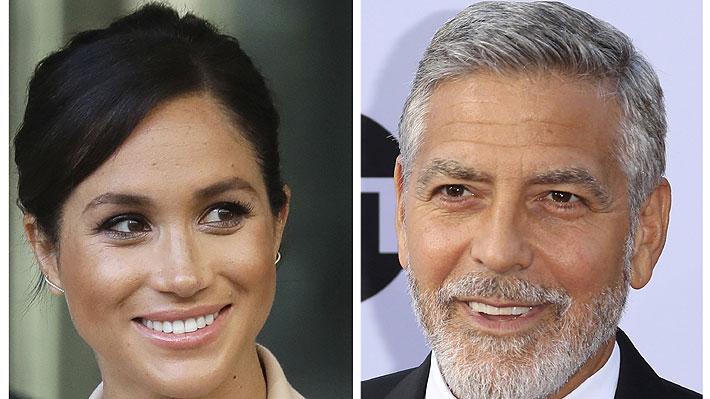 George Clooney advierte que Meghan Markle está siendo acosada como Diana de Gales
