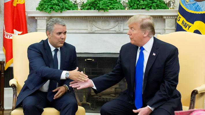 Trump advierte retraso de Colombia en plan para erradicar cultivos de coca en reunión con Duque