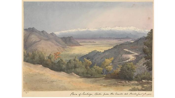 Nuevo sitio web reúne acuarelas que registran el mundo antes de 1900: Posee imágenes inéditas de Chile