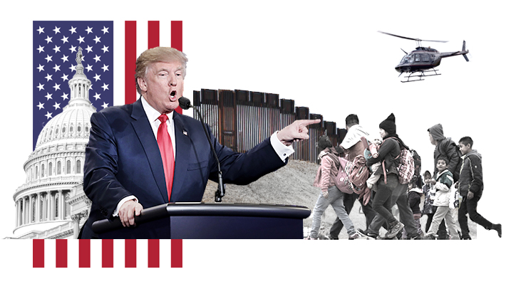 Cómo se decreta una emergencia nacional en EE.UU.: La estrategia de Trump para levantar el muro fronterizo