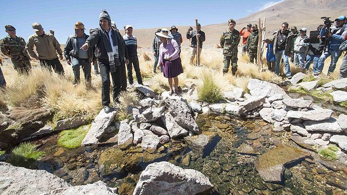 """Evo Morales insiste y dice que el caudal del río Silala fluye """"artificialmente"""" hacia Chile"""