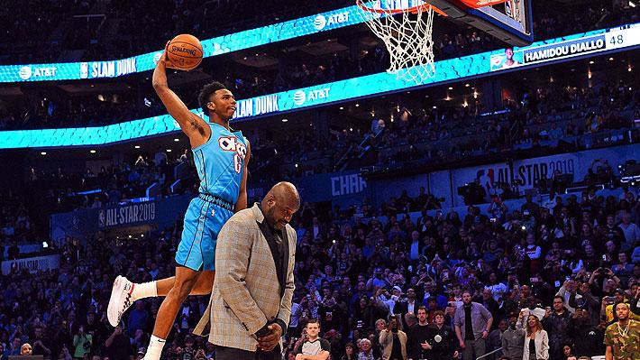 Mira la impresionante maniobra que hizo basquetbolista que ganó el concurso de clavadas del All Star de la NBA