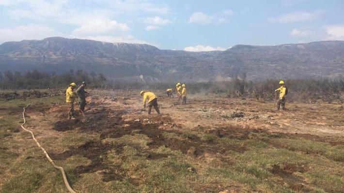"""Alcalde de Cochrane pide ayuda internacional para enfrentar incendio y dice que """"está descontrolado"""""""