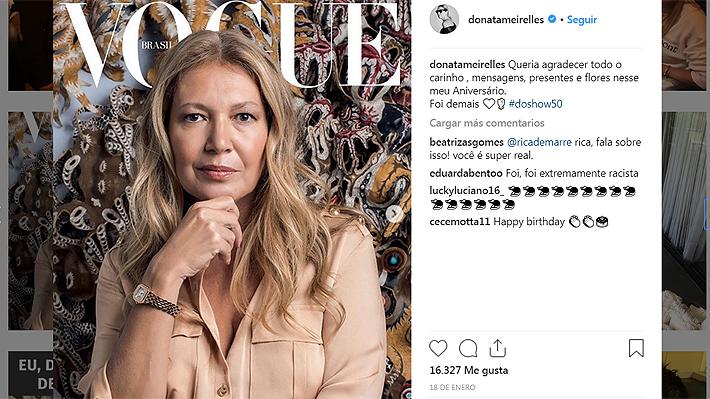 """Directora de Vogue Brasil renunció tras polémica por fotografía que """"simulaba la esclavitud"""" en su fiesta de cumpleaños"""