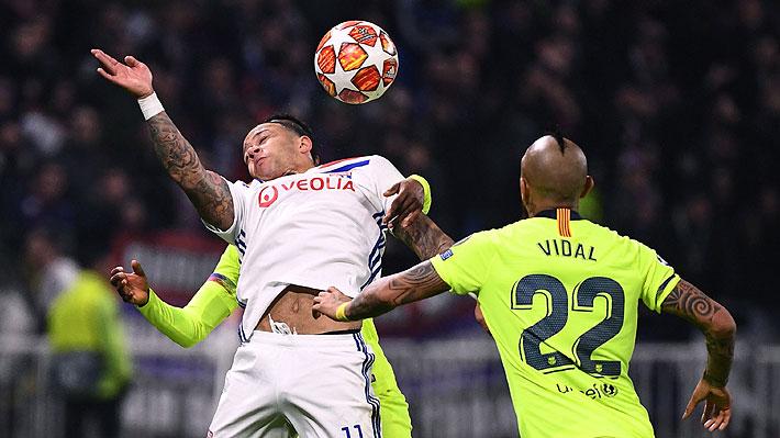 """En España destacan la """"fuerza y agresividad"""" que entregó Vidal al Barcelona ante el Lyon por Champions"""