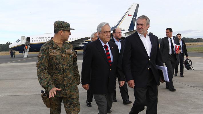 Presidente Piñera aterriza en La Araucanía para reunirse con damnificados de incendios y empresarios