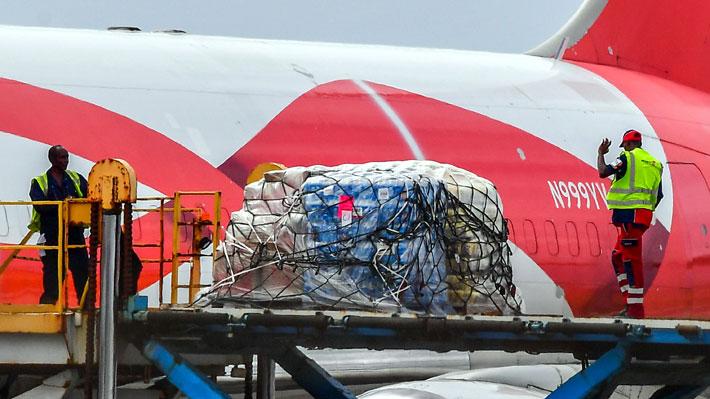 Operación humanitaria para Venezuela: Aterriza avión de ayuda de EE.UU. en isla caribeña de Curazao