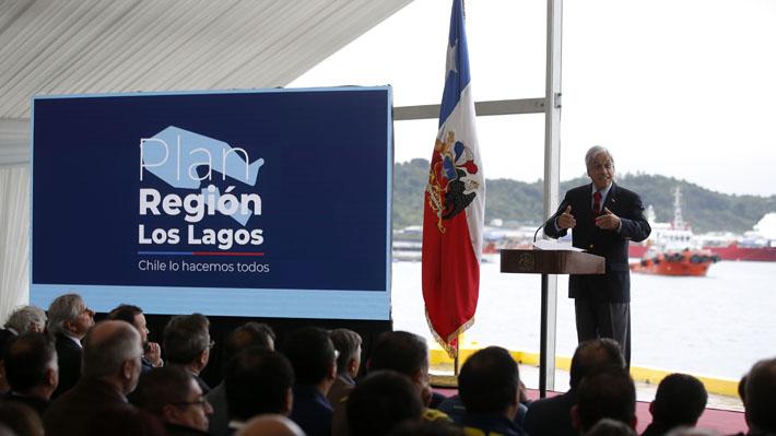 Presidente Piñera presenta plan de inversión por US$6.000 millones en ocho años en región de Los Lagos
