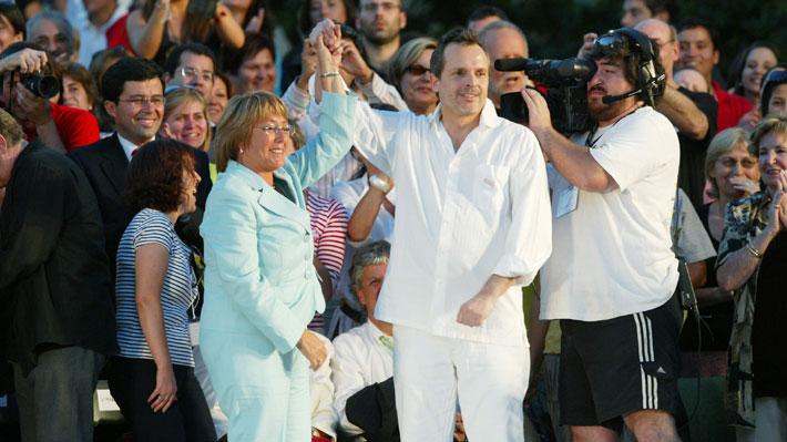 """Del """"te amaré"""" al """"para esto no sirves"""": El drástico cambio en la relación de Miguel Bosé con Michelle Bachelet"""