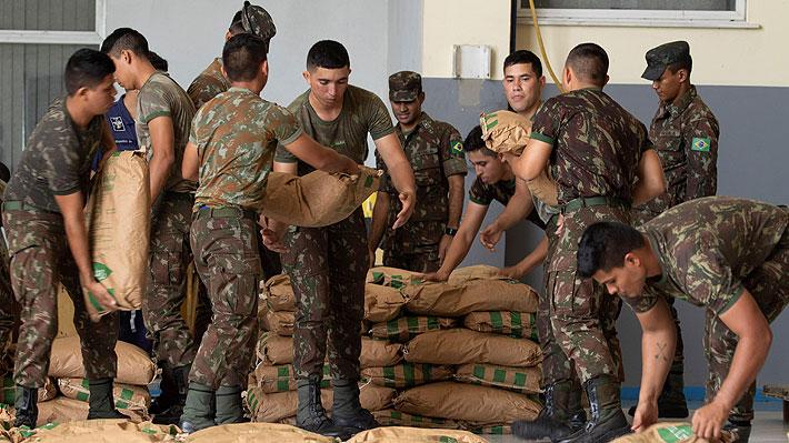 Con dos camiones conducidos por venezolanos parte la ayuda humanitaria de Brasil a la frontera con Venezuela