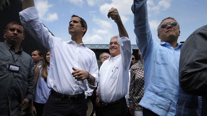 """Piñera termina su visita en Colombia y reconoce que no toda la ayuda humanitaria ingresó a Venezuela: """"Eso es muy doloroso"""""""