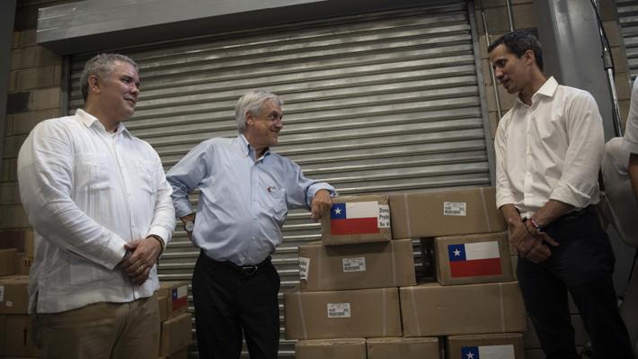 El breve, pero intenso paso de Piñera por Cúcuta: Del accidentado viaje al envío de ayuda humanitaria