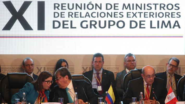 Grupo de Lima vuelve a emplazar a Bachelet por crisis en Venezuela y anuncia que próxima reunión será en Chile