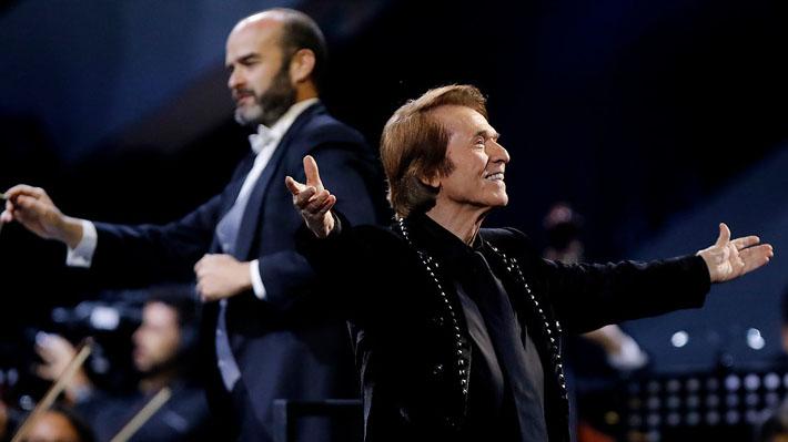 A sus 75 años, Raphael deslumbró en Viña 2019 acompañado por una impecable Orquesta Filarmónica de Chile