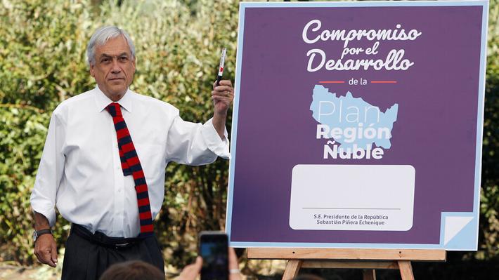 """Piñera presenta proyectos para Ñuble y se adelanta a críticas: """"Mucho de esto ya estaba pensado, sí, pero no estaba hecho"""""""