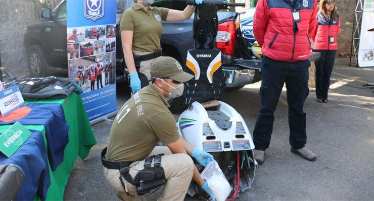 Banda de extranjeros es condenada a un total de 45 años de cárcel por traficar cocaína en motos de agua
