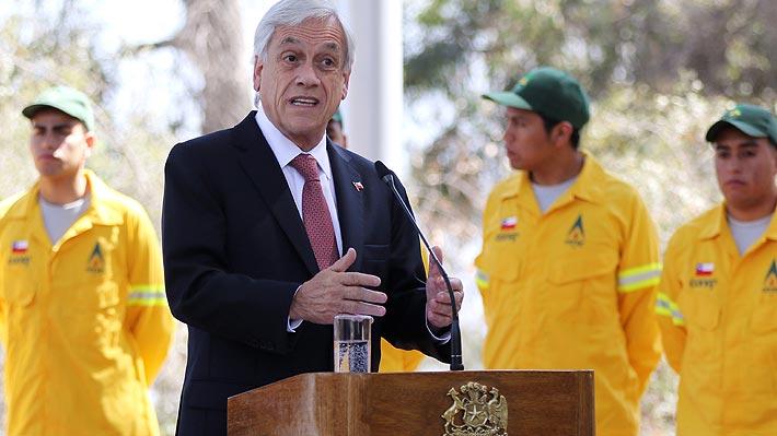 """Presidente Piñera defiende reforma previsional y llama al Congreso a que apure """"al máximo"""" su tramitación"""