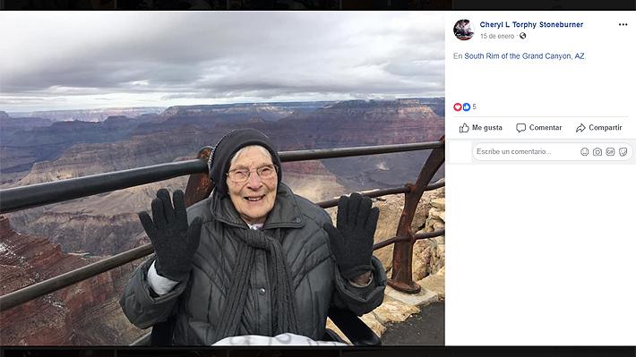 """Mujer estadounidense de 103 años se convirtió en guardaparque del Gran Cañón: """"Me siento bendecida"""""""
