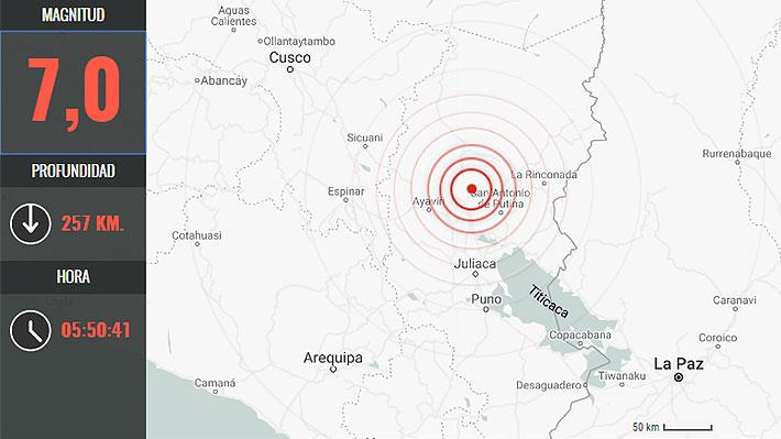 Terremoto 7,0 en Perú es percibido en el Norte Grande de Chile