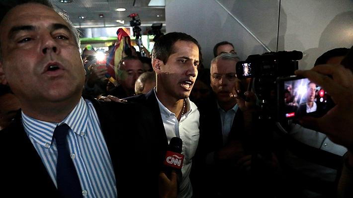 Guaidó llega a Venezuela tras 10 días de gira y en medio de incertidumbre por posible detención