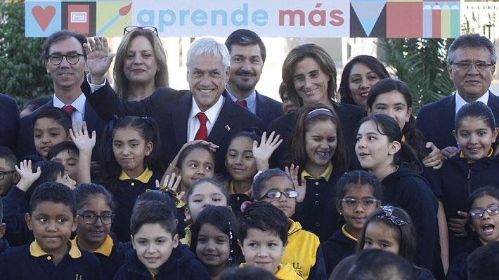 """Piñera destaca que Aula Segura y Admisión Justa son proyectos de """"sentido común"""" en inicio de año escolar"""