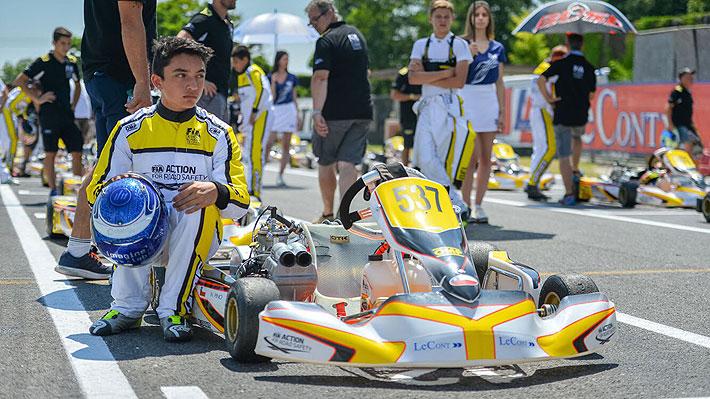 La gran promesa del automovilismo chileno inicia temporada europea de karting y afina su salto a los autos de Fórmula