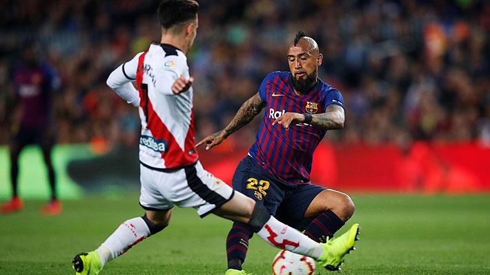 Los notables números de Vidal en triunfo sobre el Rayo Vallecano que fueron destacados por el Barcelona