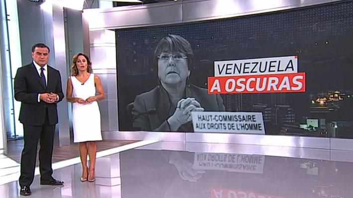 CNTV recibe más de 240 denuncias contra Canal 13 por gráfica que mezcló a Michelle Bachelet con corte eléctrico en Venezuela