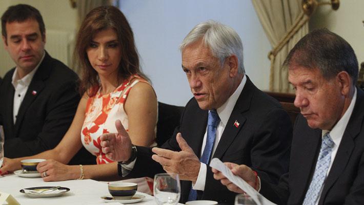 """Piñera recibe a las pymes y les explica cuatro """"poderosas """" razones para impulsar la reforma tributaria"""