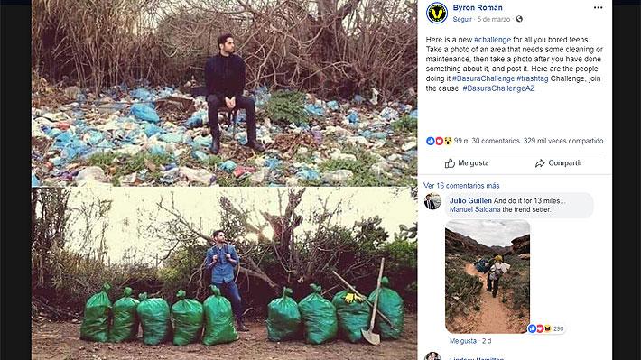 """#Trashtag Challenge, el desafío viral """"positivo"""" que anima a los jóvenes a limpiar el medio ambiente"""