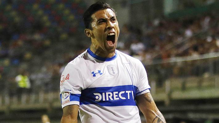 Mira el gol de Puch con el que la UC abrió la cuenta ante Rosario Central por Libertadores