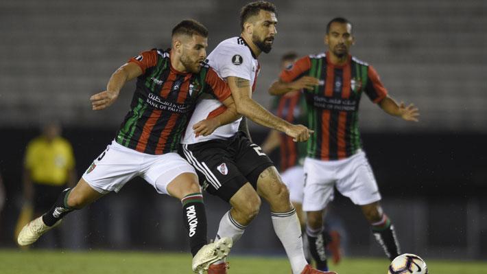 Palestino sorprende y le roba un valioso empate en Argentina a River Plate, vigente campeón de la Copa Libertadores