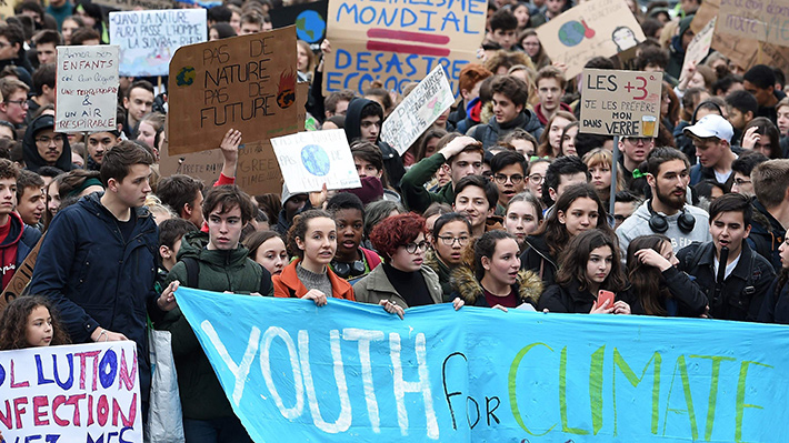 Galería: Adolescentes del mundo dejan de ir a clases y marchan para concientizar sobre el cambio climático