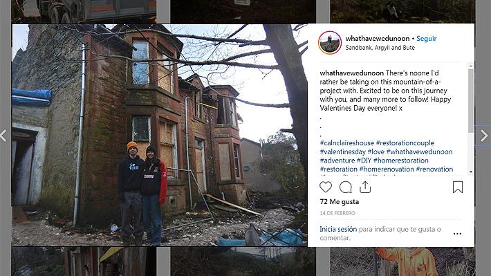 """Jóvenes compraron por error una casa de 120 años sin ventanas ni techo en Escocia: la calificaron como una """"hermosa confusión"""""""