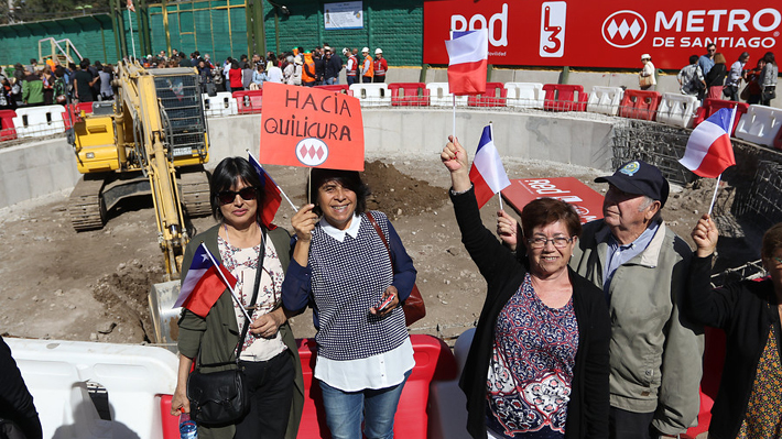 Metro inicia obras de extensión de la Línea 3: Vecinos de Quilicura demorarán 20 minutos al centro de Santiago
