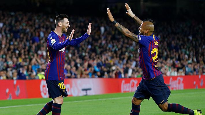 """Vidal otra vez se ganó los elogios de la prensa española: """"Perfecto en la presión y no escatimó en esfuerzos"""""""