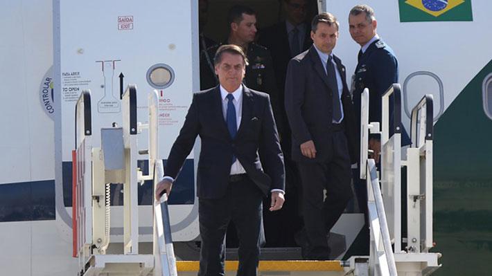 """Presidente Bolsonaro llega a Chile para participar en Prosur y asegura que """"aquí no voy a hablar de Pinochet"""""""