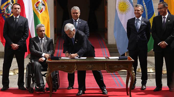 Chile asume presidencia de Prosur por un año tras firma de primera declaración que envía nueva señal hacia Venezuela