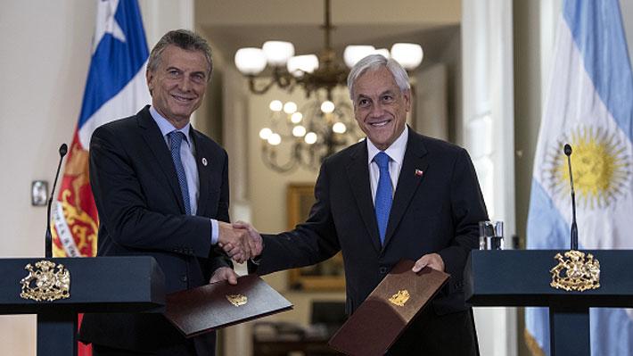 Presidentes Piñera y Macri celebran aprobación de acuerdo comercial que eliminará el roaming entre ambos países