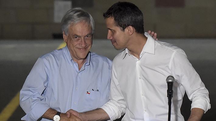 """Piñera le envía un mensaje a Juan Guaidó: """"Esperamos a Venezuela con los brazos abiertos"""" en Prosur"""