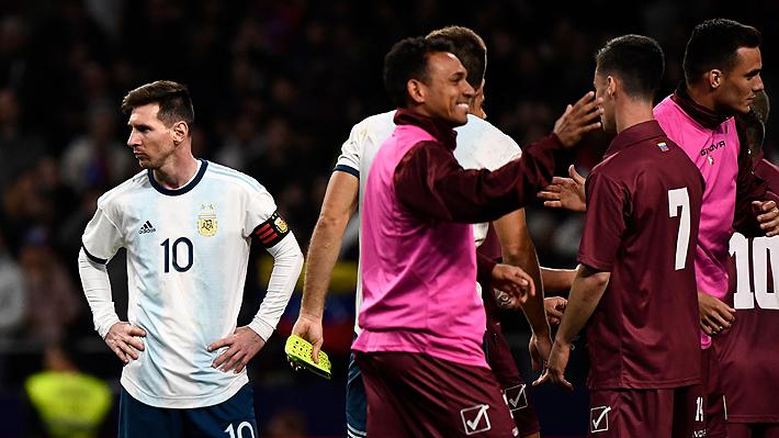 Argentina cae sorprendentemente ante Venezuela en el regreso de Messi y suma dudas de cara a Copa América