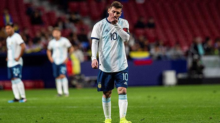 Tras derrota ante Venezuela, Messi deja la concentración de Argentina por lesión