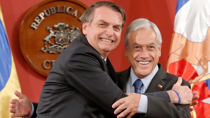 """Jair Bolsonaro tras reunión bilateral con Piñera: """"Avanzaremos, ya que Chile es nuestro segundo socio comercial"""""""