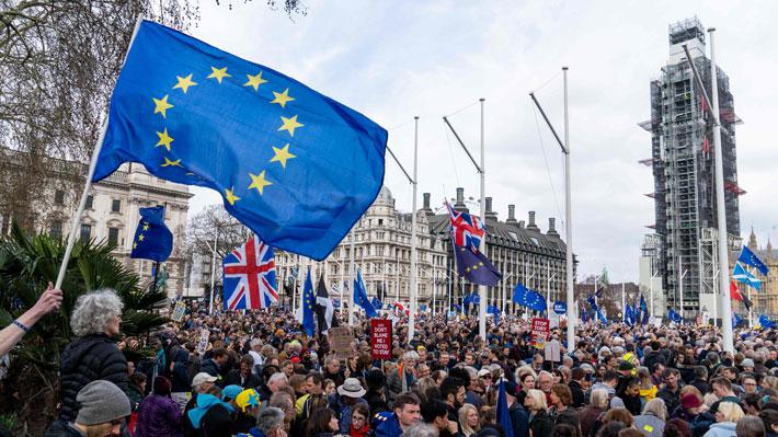 Un millón de británicos en contra del Brexit salió a las calles de Londres para pedir un nuevo referéndum