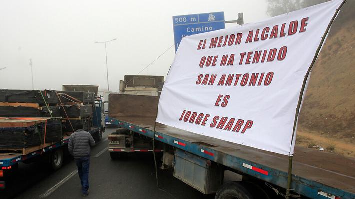 Sharp lamenta protesta de camioneros en Valparaíso y atribuye responsabilidad al Gobierno