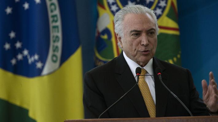 Ex Presidente de Brasil Michel Temer es puesto en libertad tras pasar cuatro días en prisión