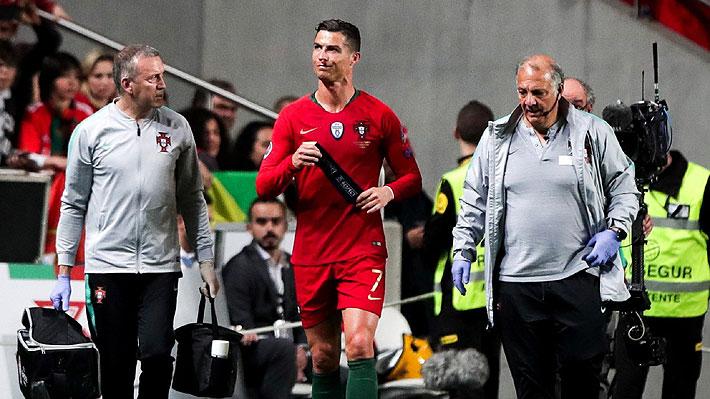 Cristiano sale lesionado en duelo de Portugal, pero confía en su recuperación de cara a los cuartos de la Champions