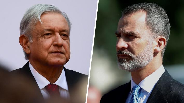 """AMLO pide por carta al Rey de España que se disculpe por los """"agravios"""" cometidos durante la conquista de México"""